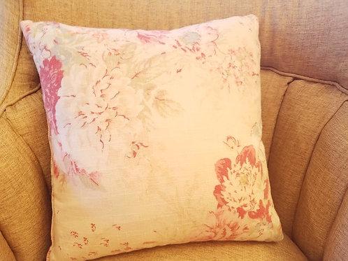 Shabby Handmade Pillow~Floral Cotton