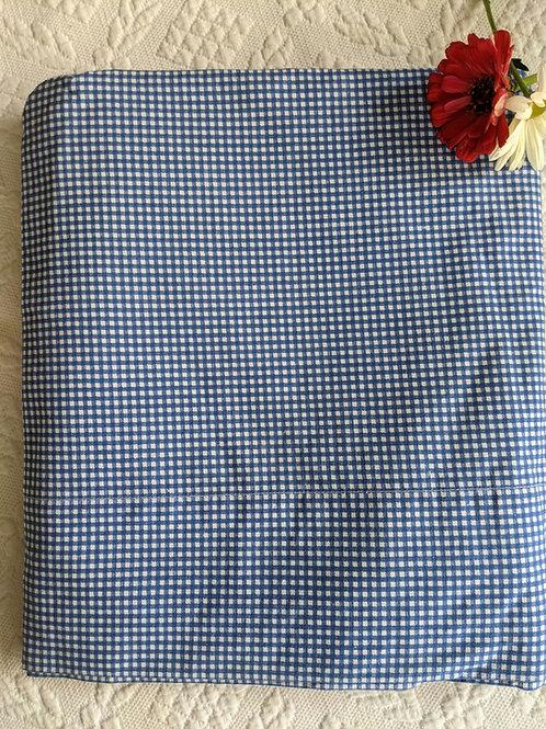 Ralph Lauren Blue Gingham Twin Flat Sheet
