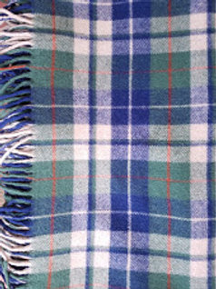 Vintage Pendleton Plaid Wool Lap Blanket 66 x 50 Blue Green Red