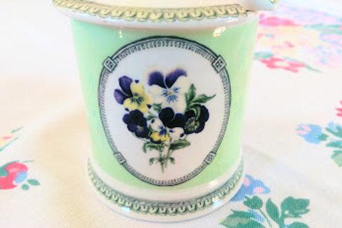 RHS Applebee Collection Jar Lid Pansies