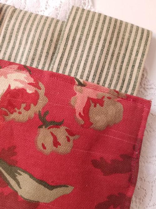 P. Kaufman Queensland Red Floral Valance