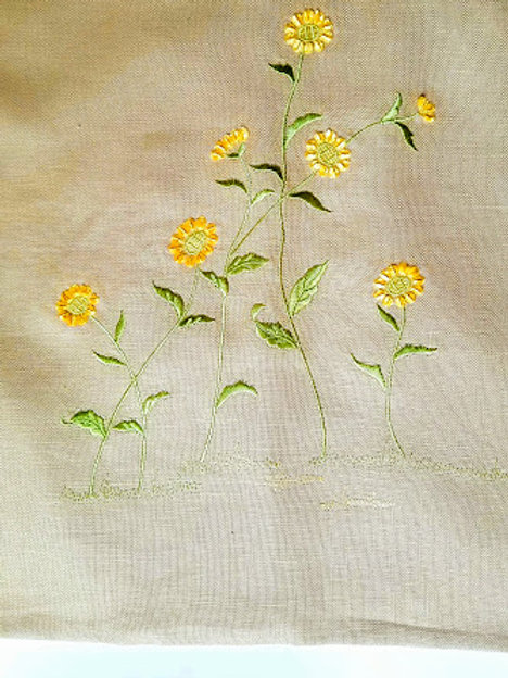 Pottery Barn Daisy Chenille Embroidered Pillow Cover