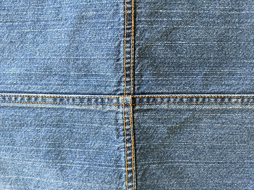 Tommy Hilfiger Denim Standard Sham Gold Stitching
