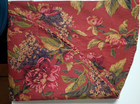 Serena Crimson Floral Round Tablecloth 67 Inch