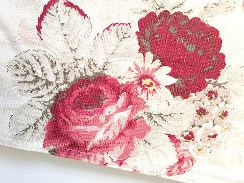Waverly Vintage Rose Runner Red Floral New