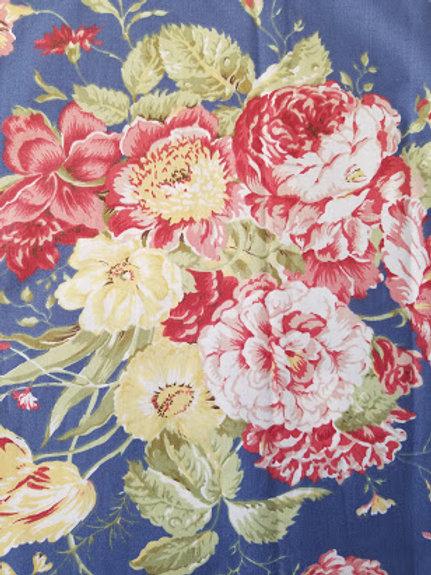 Waverly Garden Masterpiece Curtain Panel Blue Floral