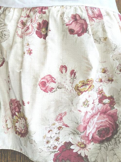 "Waverly Norfolk Queen Floral Bed Skirt 14"" Drop"