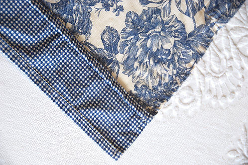 """Waverly Valance French Floral Toile Blue Pair~68"""" x 17"""""""