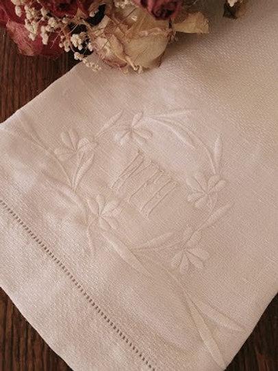 "Tea Towel ""WFH"" Monogram Vintage"