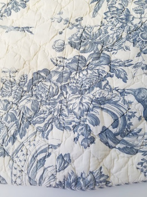 Toile Quilted Square Pillow Covers by J. Clayton