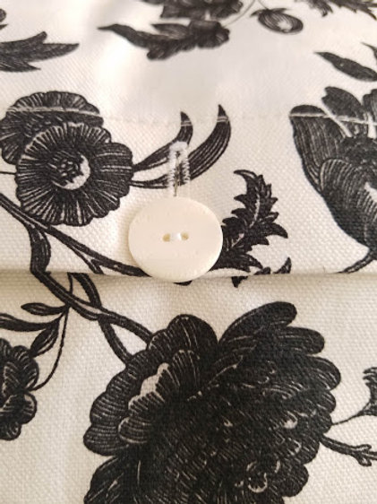 IKEA Ektorp White Black Floral Down Lumber Pillow