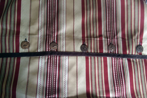 Columbia Sham Pair~Std~Tan/Rd/White Stripes~Button