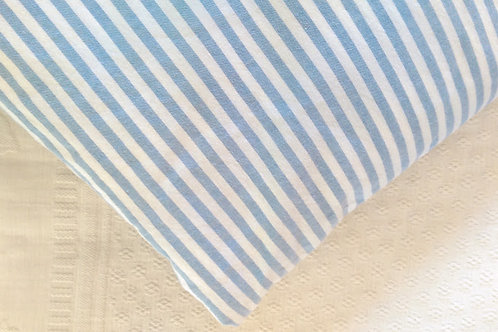 Oxford Blue White Stripe Twin Fitted Sheet~Portugal