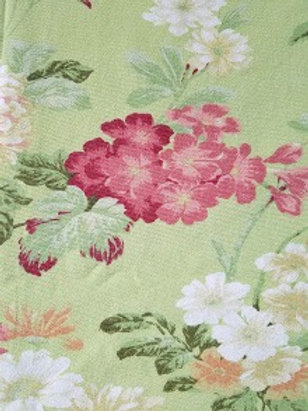 "Green Woven Floral Rectangle Tablecloth~92""x 60"""