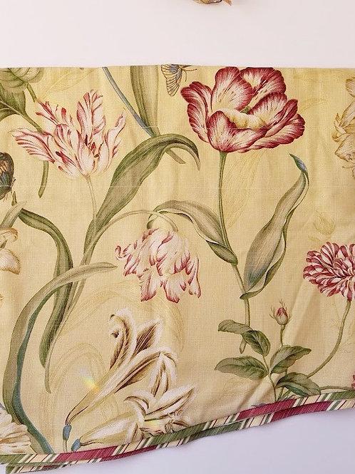 Waverly Somerset Botanical Valance Tan Floral