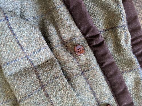 Ralph Lauren Shetland Manor Wool Euro Cover Suede Trim