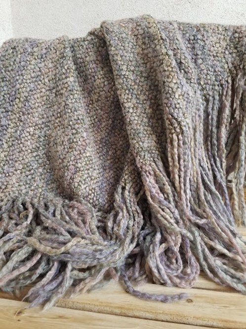 Kennebunk Home Throw~Multi-colored Fringed