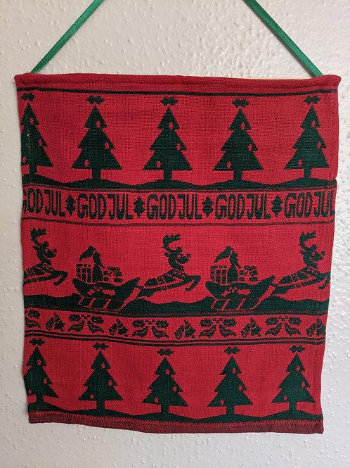 God Jul Wall Hanging Christmas Holiday Red