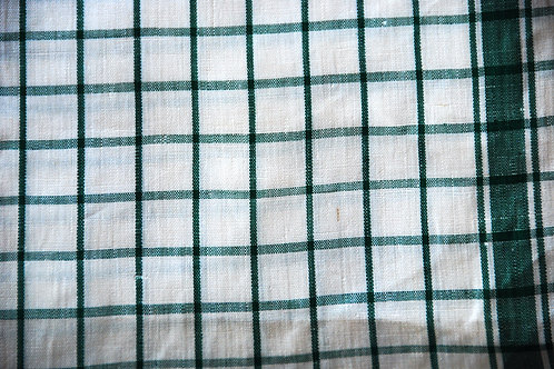 Vintage Toweling~Green/White Plaid~New