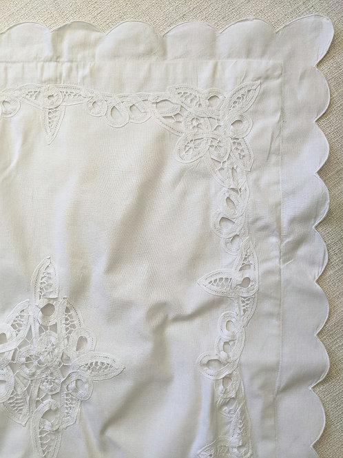 Battenberg StandardSham White Cotton