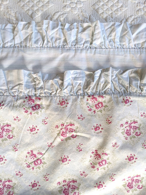 Simply Shabby Chic Window Box Pink Floral Blue Striped King Sham