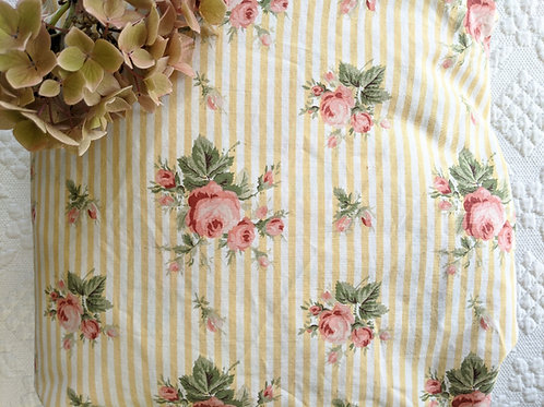 Ralph Lauren Sophie Brooke Twin Fitted Striped Sheet Yellow Floral