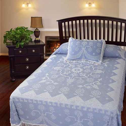 Bates Martha Washington's Choice Bedspread Wedgewood Blue New