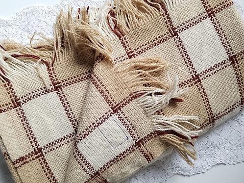 Pendleton Plaid Brown Wool Lap Throw Blanket 70 x 56