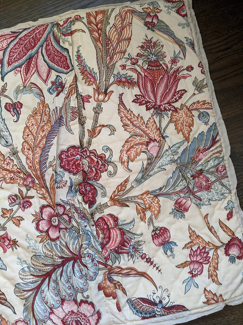 Pottery Barn Deirdre Palampore Euro Sham Floral Print Quilted