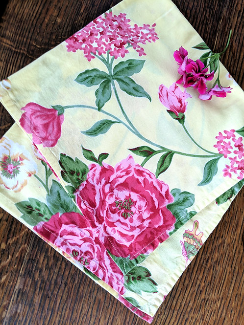 April Cornell Napkins~ Set of 2~ Yellow Floral