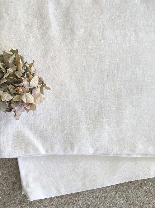Ikea Puderviva King Sham Pair White 100% Linen