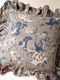 Ralph Lauren Donovan Floral Pillow Blue Cream
