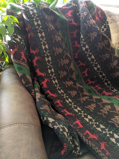 "Woolrich Vintage Wool Holiday Southwest Garde La Foy Blanket 70"" X 60"""