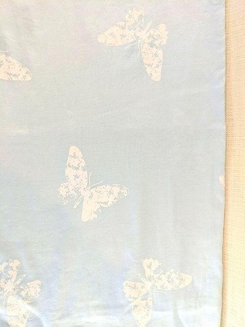 """Blue Twin Duvet Cover Butterflies!  72"""" x 87"""""""