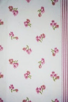 Freedom Fast~ Vintage Floral Std. Pillow Case~Pink Green