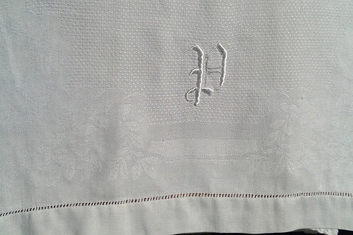 "Linen Towel ""P"" Monogram"