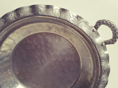 Vintage Everlast Metal Hand Forged Pie Plate