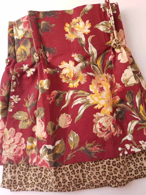 American Living Valance Exotic Living Red Print Leopard Layer Ralph Lauren