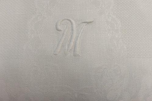 """Linen Towel """"M"""" Monogram 34"""" x 18"""""""