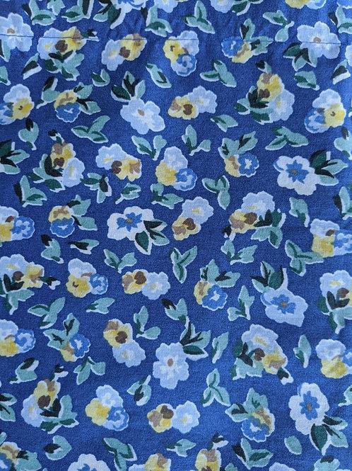 Laura Ashley Valance Polyanthus Primrose Blue Yellow Floral EUC