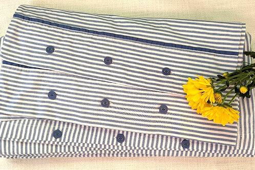 Ikea Nyponros Full Duvet Cover Blue Cotton Case Pair