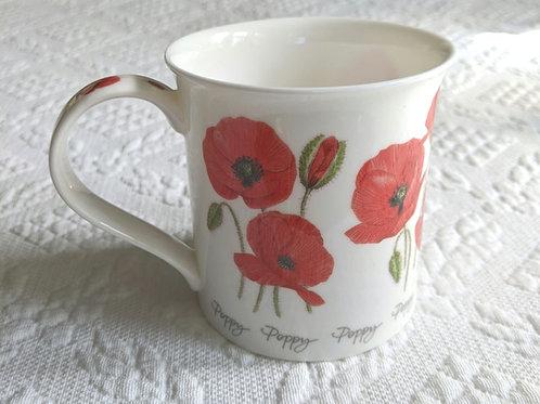 DUNOON Poppies Fine Bone China Mug