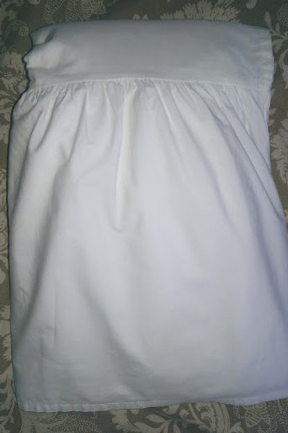 """Simply Shabby Chic Bed Skirt Queen White Solid 15.5"""" Drop"""