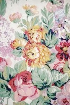 Ralph Lauren Allison Twin Flat Sheet Floral chickadee vintage