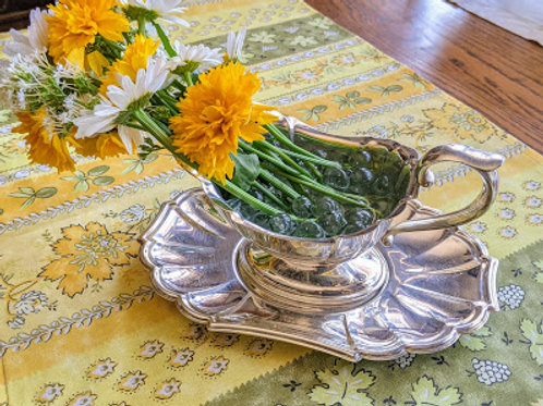 Gorham Heritage EP Silver Plate Gravy boat w/ Plate