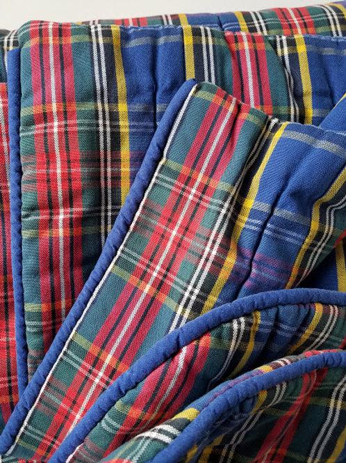 Macbeth Tartan Plaid Twin Comforter Custom Blue Red Green Yellow