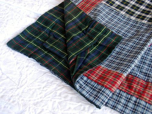 Plaid Patchwork Cotton Standard Sham Pair