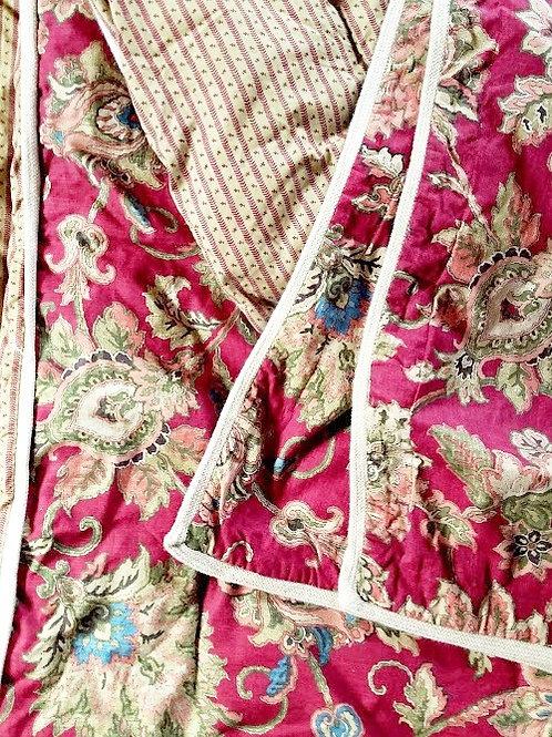 CHAPS Annabelle Jacobean Full Comforter Std Shams Jute trim