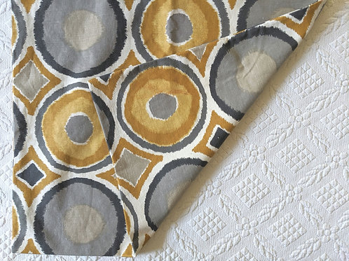 IKEA MURBINKA Pillow Cushion COVER 20x20 Gold Gray Circle Diamond Modern Grey