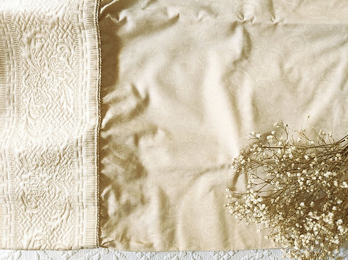Croscill Standard Pillowcase Pair Damask Cream New